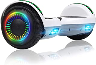 """Felimoda Hoverboard for Kids and Adults, 6.5"""" Two-Wheel Self Balancing Hoverboard with Bluetooth Speaker & LED Lights"""