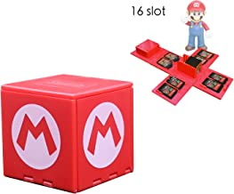 dainslef Foldable Mario Game Storage Box for Switch Game Cards Up, Nintendo Switch Game Card Case Up to 16 Game Cards