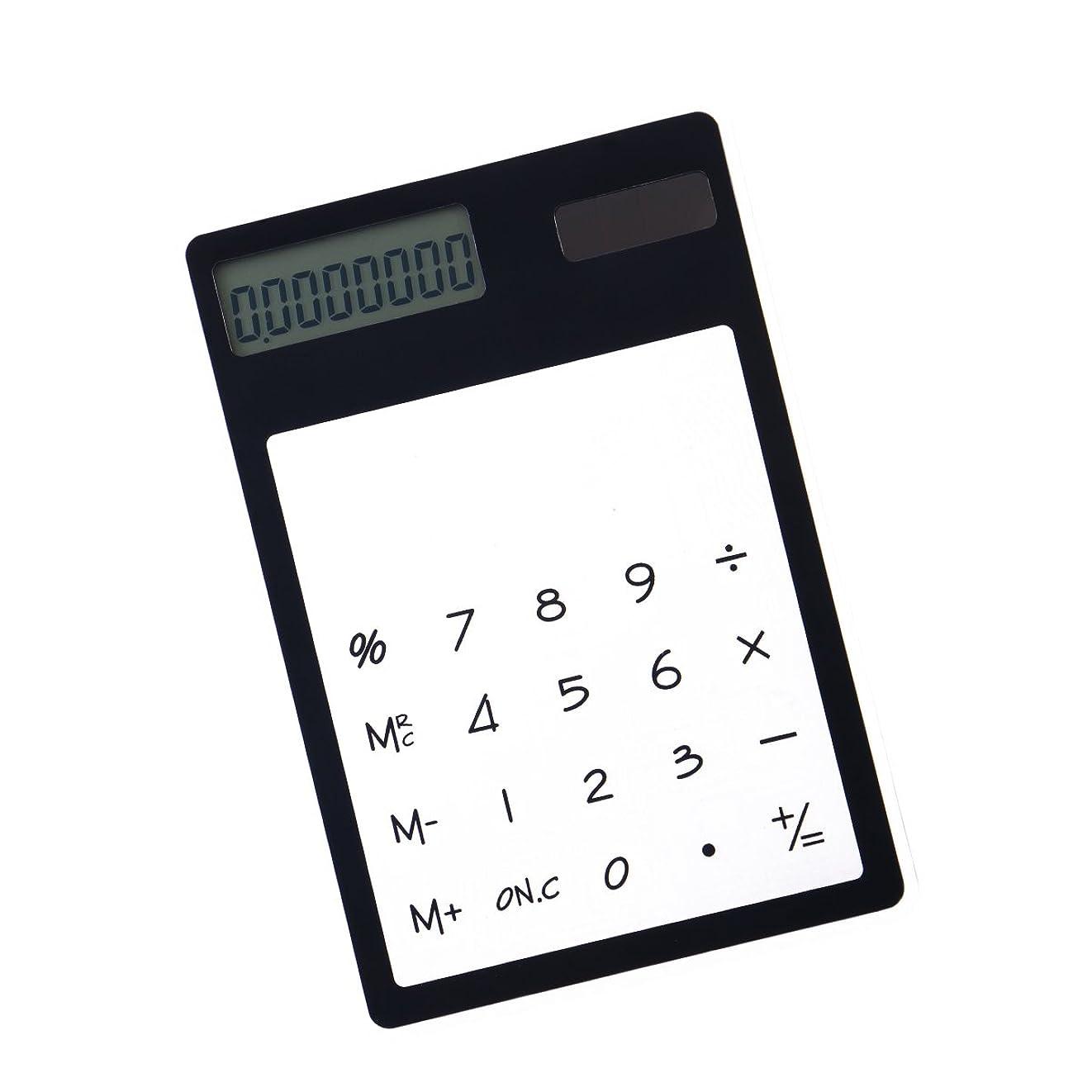 競争制限嫌がらせfrcolor Solar Powered電卓Unique透明タッチパネルデザインSmall電卓 11.9 x 8.1 x 0.5cm ブラック WJU084JRC38Y18BC4SS