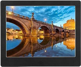 FEE-ZC Rose Gold 8 Inch Digital Photo Frame Multi-Function Electronic Photo Album Family MP3 Photo Video Advertising Media...
