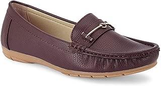 Ceriz Women's Charlotte Refined Brown Loafers