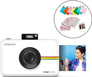 Polaroid Snap Touch 2.0 - Cámara digital portátil instantánea de 13 Mp Bluetooth pantalla táctil LCD tecnología Zink sin tinta y nueva aplicación copias adhesivas de 5 x 7.6 cm blanco