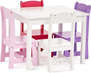 Phoenix Home Fermo Kid's White Wood Table and Colored Chair Set (Rose, Pink, Purple, White)