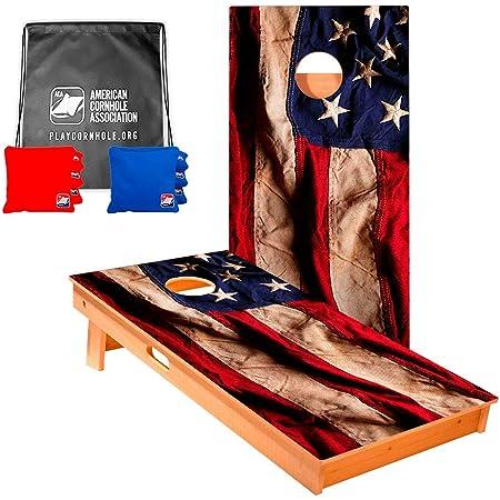Patriotic Bald Eagle USA Red and Blue 8 ACA Regulation Cornhole bags B29