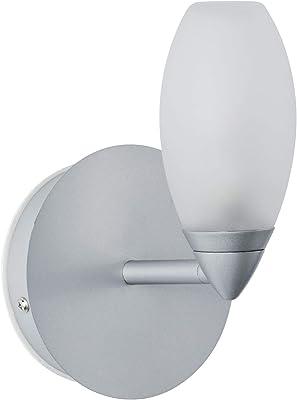 Paulmann 70838 Carina - Lámpara de pared (máx. 28 W, IP44, cromo mate, satinado, metal y cristal, G9)