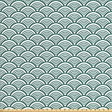 Ambesonne Teal Stoff von The Yard, traditionelles