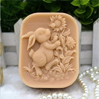Grainrain Rabbit Silicone Soap Mold Bunny Silicone Mold Crafted Molds Handmade Soap Mold