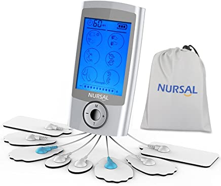 NURSAL TENS Unit Rechargeable FDA Cleared Electronic Pain...