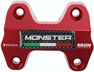 PRO-KODASKIN Motorcycle Carbon Emblem Mount Riser Handlebar Clamp for Ducati Monster 821 (Red)