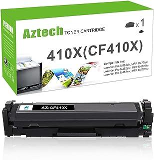 Aztech Compatible Toner Cartridge Replacement for HP 410X CF410X 410A CF410A Color Laserjet Pro MFP M477fnw M477fdn M477fdw M452dn M452dw M452nw (Black, 1-Pack)