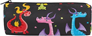 ALAZA Dragon Cylinder Pencil Case Holder Zipper Large Capacity Pen Bag Pouch Students Stationery Cosmetic Makeup Bag