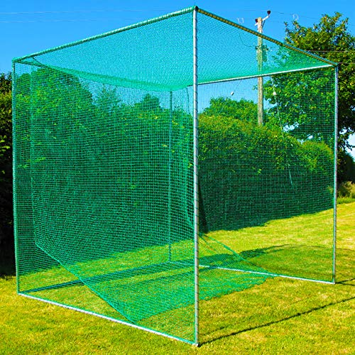 FORB Freestanding Professional Golf Cage [Single Bay] | 10ft x 10ft x 10ft - UV Stabilized Net