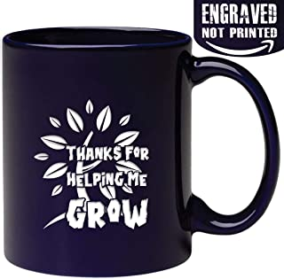 517c7136ba3 Engraved Thanks Mug - Thanks For Helping Me Grow - Gifts for Dad Mom Teacher  -