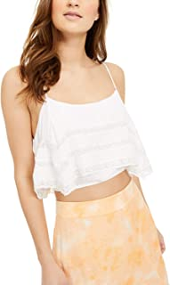 Free People Women's Home Again Crop Camisole, White, Large