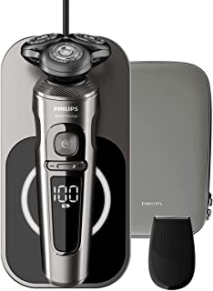 Philips SP9860, Prestige Wet & Dry Electric Shaver for Men, Black & Silver