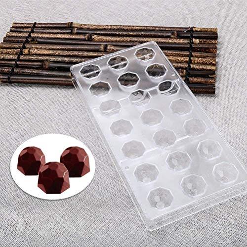 Molde repostería chocolate forma diamante, plástico