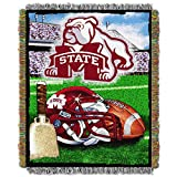 NORTHWEST NCAA Mississippi State Bulldogs Woven Tapestry Throw Blanket, 48' x 60', Home Field Advantage