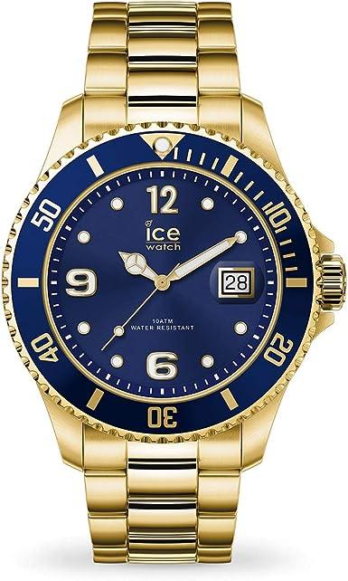 ICE-WATCH - Ice Steel Gold Blue, Reloj Dorado con Correa de Metal