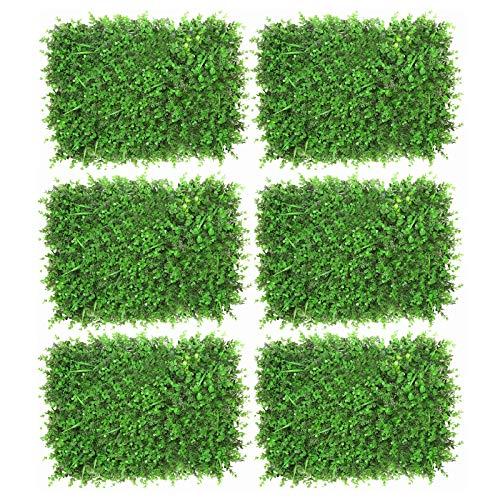 KTYXGKL Pared De Planta Verde Pared De Planta De Simulación, Pared De Flores Artificiales, Pared De Fondo De Decoración De Jardín Al Aire Libre, Pantalla De Valla De Privacidad (Color : Mixed grass)
