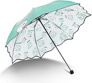 YQRYP Mini Travel Sun Umbrella &rain Umbrella - Light Compact Parasol with UV Protection for Umbrella Windproof Umbrella, Golf Umbrella (Color : Green)