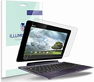 iLLumiShield Matte Screen Protector Compatible with ASUS Transformer Prime TF201 Keyboard Cut (2-Pack) Anti-Glare Shield Anti-Bubble and Anti-Fingerprint PET Film