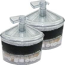 Aquapapa Corner Filter Air Driven Bio Sponge Ceramic for Fry Shrimp Nano Fish Tank Aquarium XY-2008 (Ship from CA USA)