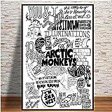yiyitop Plakate und Drucke Arctic Monkeys Music Band Zitat