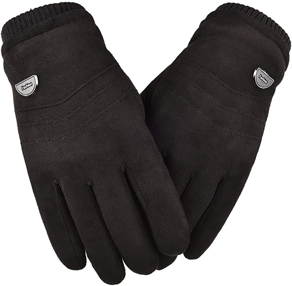 GREFER Winter Gloves, Women Touchscreen Design Gloves, Cold Weather Cycling Warm Gloves Windproof Winter Sports Mittens