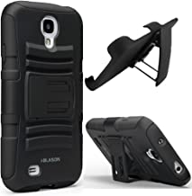 i-Blason Samsung Galaxy S4 Active (i9295 Water Resistant Version) Prime Series Dual Layer Holster Case with Kickstand and Locking Belt Swivel Clip (Black)