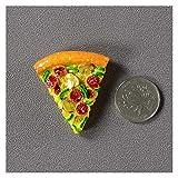 YSJJDRT Imanes de Nevera Pegatinas Creative Simulation Food 3D Fridge Imanes Cono Dulce Fried Pollo Pierna Hamburguesa magnética magnética imán (Color : Triangle Pizza)
