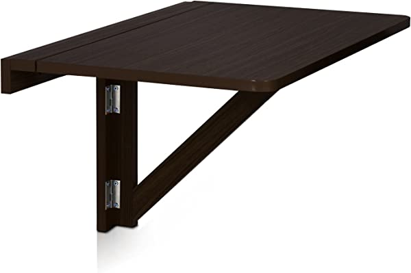 Furinno FNAJ 11019 1 Wall Mounted Drop Leaf Folding Table Espresso