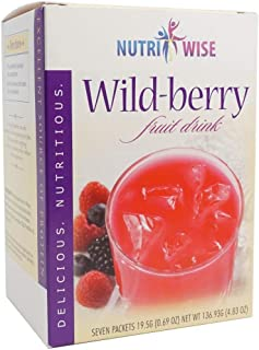 NutriWise - Wild Berry Diet Fruit Drink | Healthy Delicious Beverage | High Protein, Fat Free, Low Cholesterol, Low Calori...