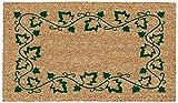 DeCoir 26509 Ivy Border Doormat, 16 by 27', Green