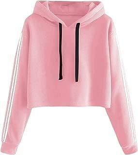 Women's Planet Graphic Print Casual Thick Crop Hoodie Sweatshirt Top