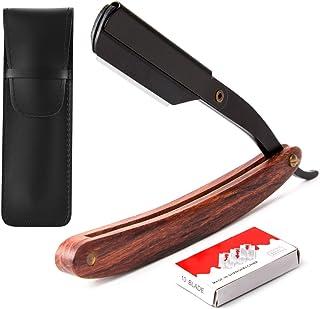 EFANTUR Navaja afeitar con 10 cuchillas de doble hoja navaja de afeitar de hojas desechables [Incluye 10 cuchillas doble hojas+fun