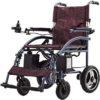 BYCDD Motor Silla de Ruedas, Silla de Ruedas Plegable Ligera Motor Eléctrica Power Chair para el Transporte y Almacenamiento Silla Eléctrica, Anchura del Asiento 18 Pulgadas,Style A