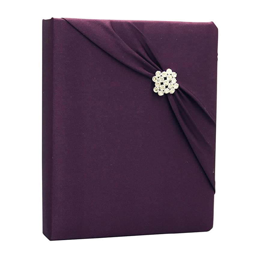 Ivy Lane Design Garbo Collection Wedding Memory Book, Eggplant