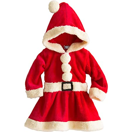 Catherine Cottage クリスマス コスチューム サンタ トナカイ もこもこロンパース/ワンピース TK4060 TAK