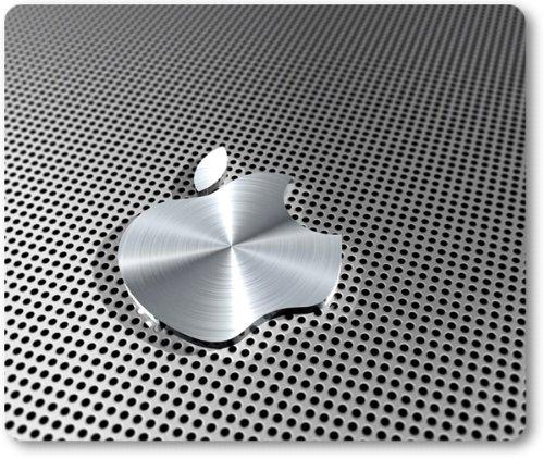 Hoogwaardige muismat met Apple-logo, aluminium look.