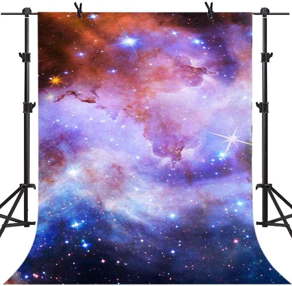 Zhy Vinyl Photo Backdrop Starry Sky Backdorp 5X7FT Galaxy Universe Background Abstract Backdrop for Adult Portrait Studio Shooting Props CHE136