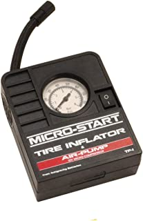 Mini Portable Tire Inflator Air Pump - Works with Vehicles Cigarette Lighter or AG Micro Start