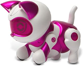 Tekno Newborns Pet Cat Toy Robotic Kitty Interactive Cat That Jumps, Walks And Begs.