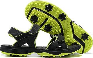 صنادل جولف NOXNEX للرجال بدون أشواك قابلة للتعديل بأشرطة فيلكرو مريحة أحذية الجولف الرياضية صندل