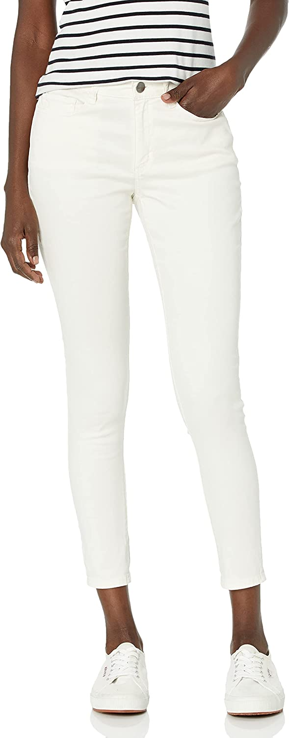 Daily Ritual Women's Stretch Sateen Skinny-fit Pant