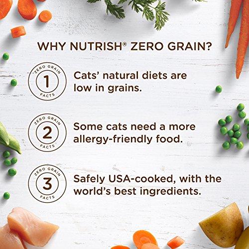 Rachael Ray Nutrish Zero Grain Natural Dry Cat Food, Chicken & Potato Recipe, 12 Pounds, Grain Free