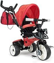 INJUSA 8 Triciclo City MAX para Bebés Desde los 6 Meses con Mango para Control Parental de Dirección, Color Rojo (3271)