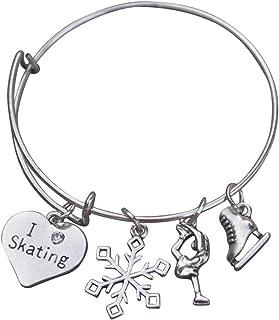 دستبند اسکیت شکل مجموعه بی نهایت ، جواهرات اسکیت روی یخ ، دستبند جذابیت اسکیت روی یخ - هدایای اسکیت شکل کامل