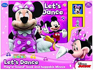 """Mickey Mouse Clubhouse MINNIE MOUSE LET'S DANCE Play-a-Sound Book and Huggable Minnie Mouse Plush by """"PUBLICATIONS INTERNA..."""