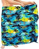 LA LEELA Traje de baño Traje de baño para Hombre Encubrir Abrigo Ropa de Playa Pareo Azul del bañador Pareo