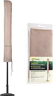 Sekey Schutzhülle für Durchmesser 300 cm Sonnenschirm, Abdeckhauben für Sonnenschirm,100% Polyester, Taupe